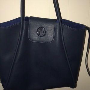 Armani Exchange Blue Shoulder Bag